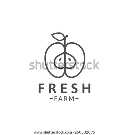 outline apple logo template or