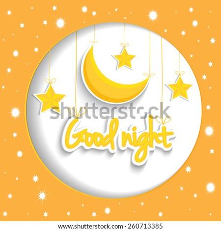 cartoon star and moon wishing