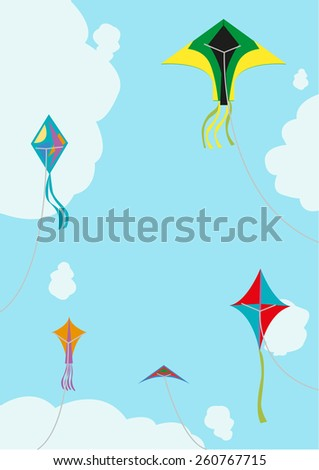 kite flying with space for