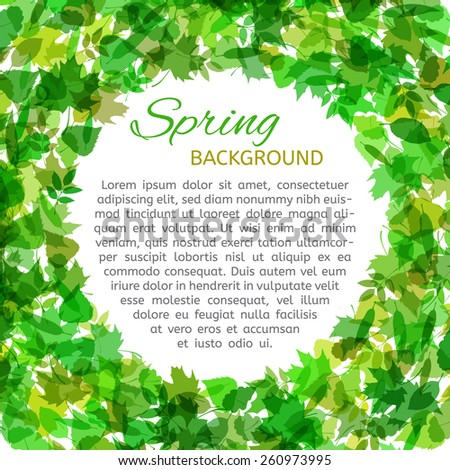 vector spring background