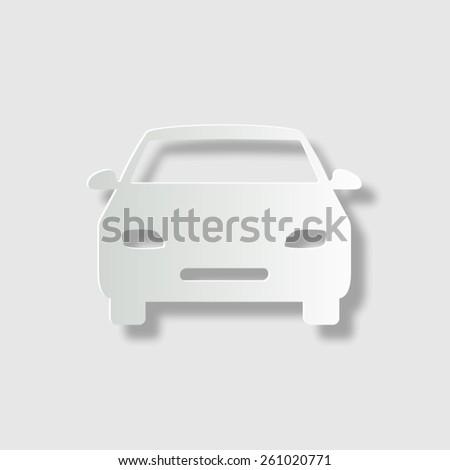 car    vector icon with shadow