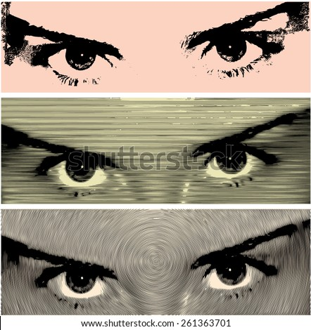 woman eyes an intense gaze