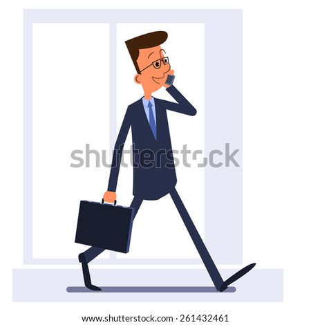 businessman walking  holding