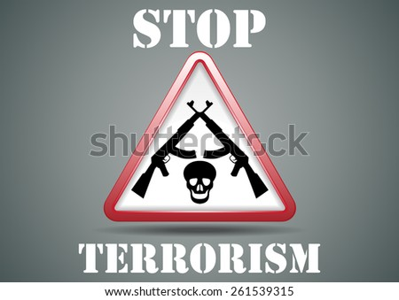 stop terrorism   vector