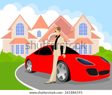 vector illustration of a rich