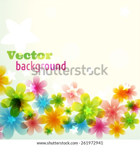 sunny flower background