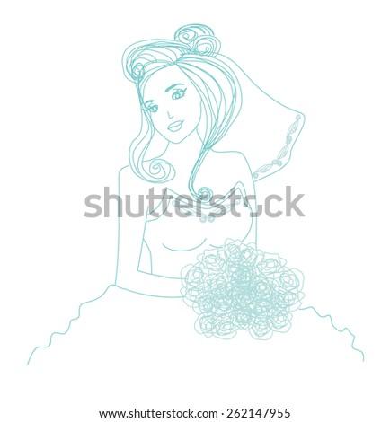 beautiful bride   doodle
