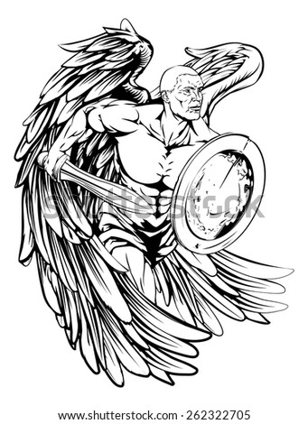 an illustration of a warrior