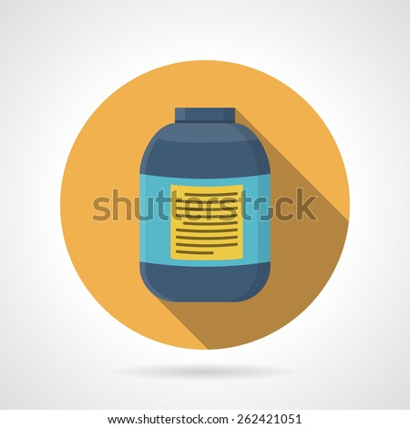yellow flat color round vector