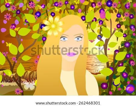 vector illustration blonde