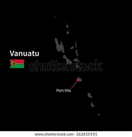 detailed map of vanuatu and