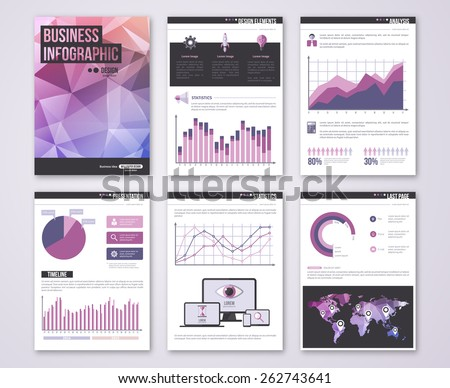 set of vector poster templates