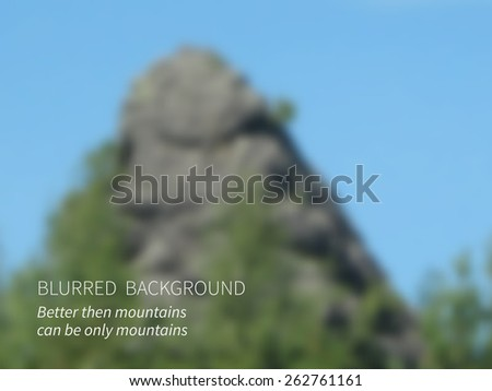 vectorblurred landscape  view