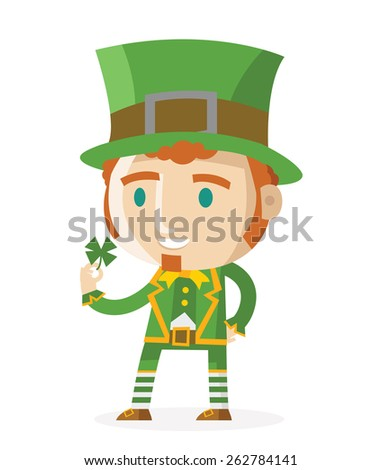 a green dressed leprechaun