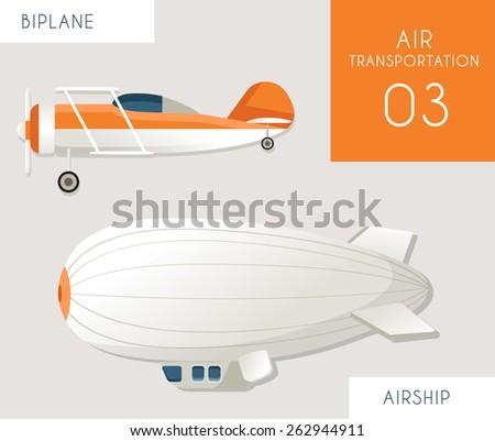air transportation flat vector