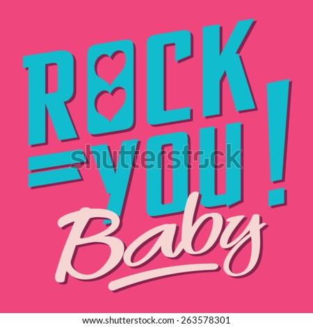 rock typography  t shirt