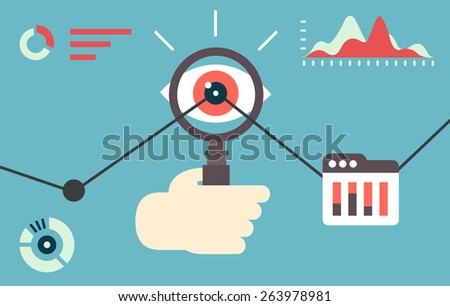 flat vector illustration of web