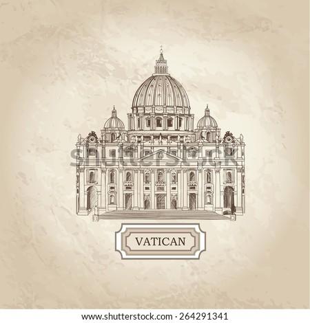 vatican old paper textured