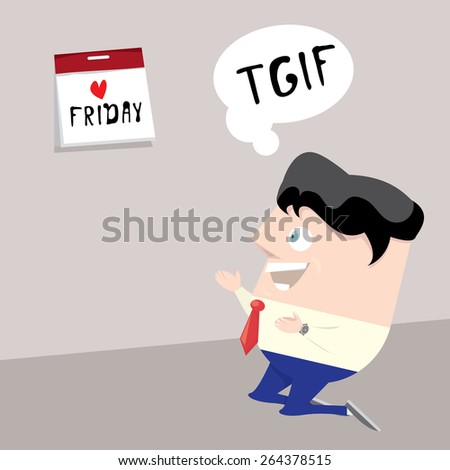 thanks god it's friday concept