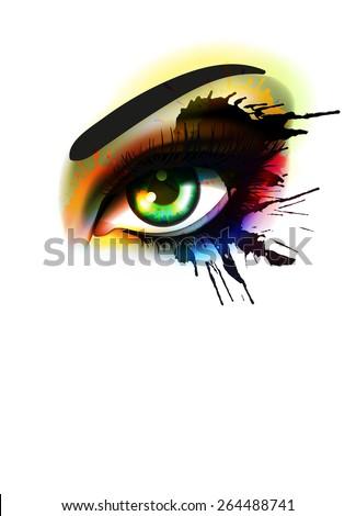grunge colorful make up eye
