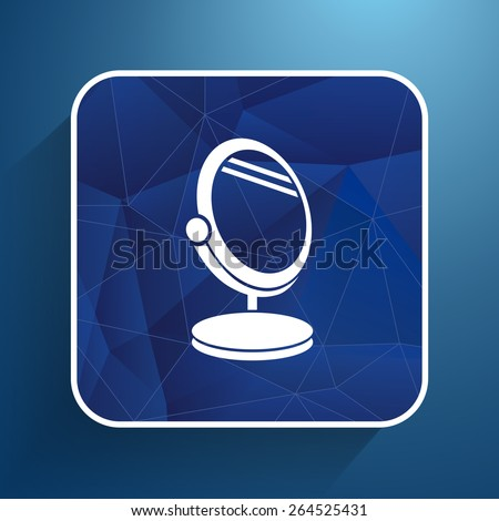 mirror icon vector isolated