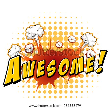 word awesome with explosion
