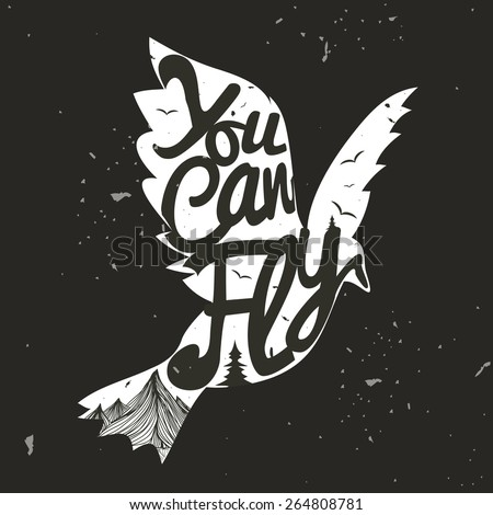 vector hand drawn typography