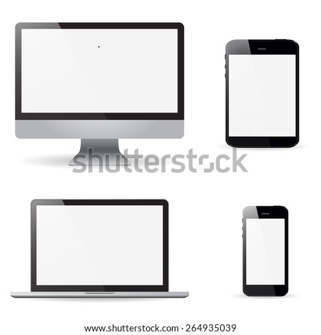 set realistic monitors laptop