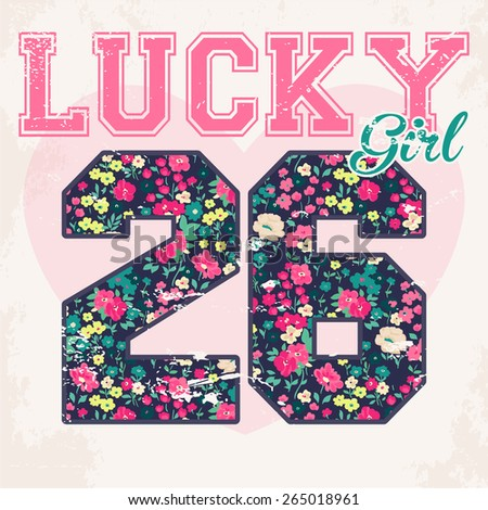 vintage vector print and