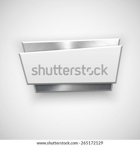 abstract geometric badge