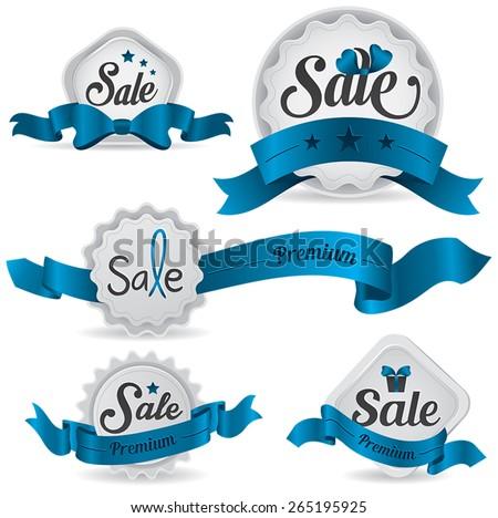 blue ribbon glossy sale badges