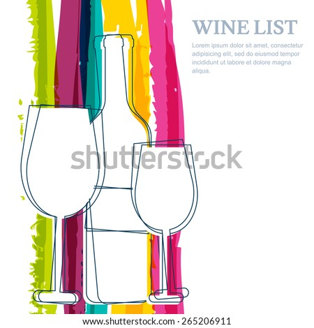 wine bottle  glass silhouette