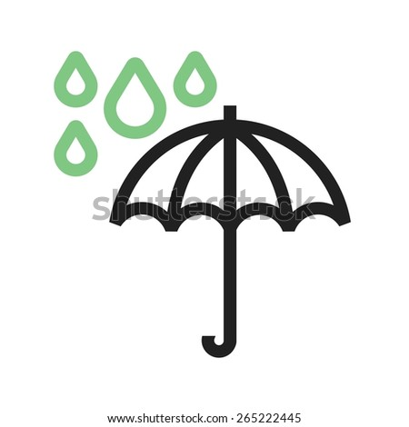 umrella with rain vector image