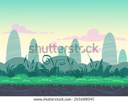 seamless morning landscape