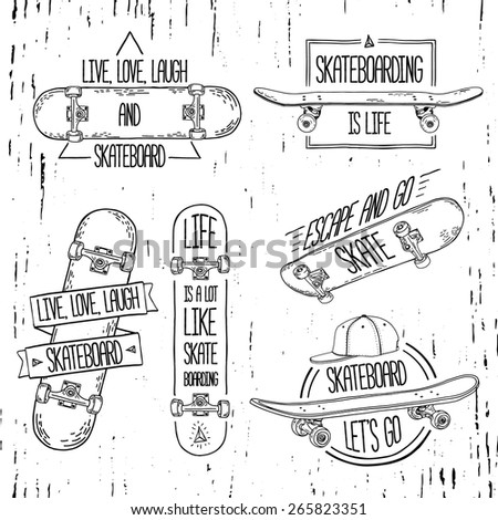 set of linear  modern logos