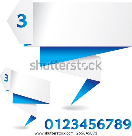 white blue  polygonal folded