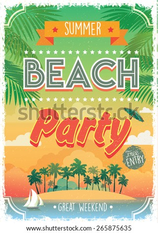 Flyer Background Beach Party Free Vector Download 47099 For Commercial Use Format Ai Eps Cdr Svg Illustration Graphic Art Design