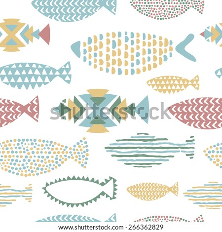 see fishes in vector