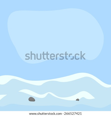 snowland vector background
