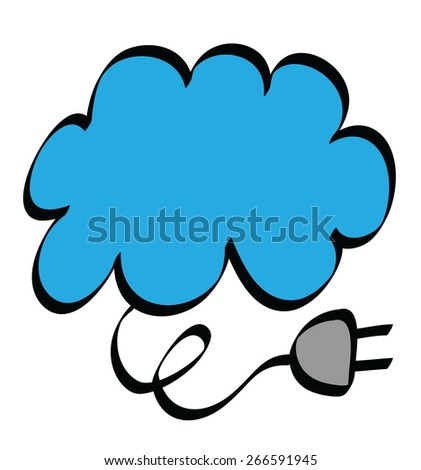 cartoon cloud upload icon