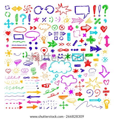 colorful vector doodles design