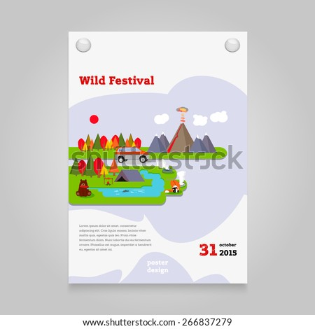 colorful vector flat poster