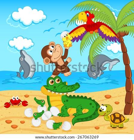 animals found in eggs crocodile