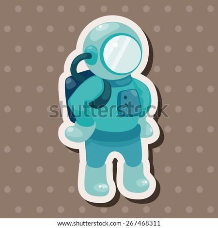 spaceman theme elements vector