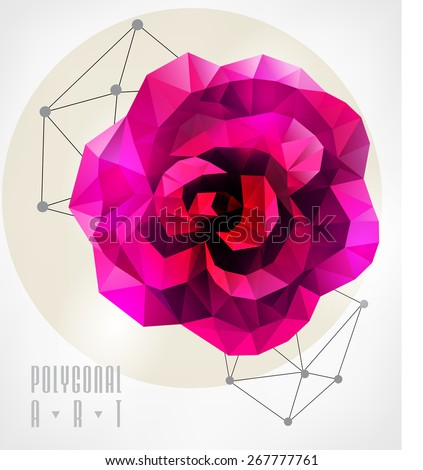 abstract polygonal rose