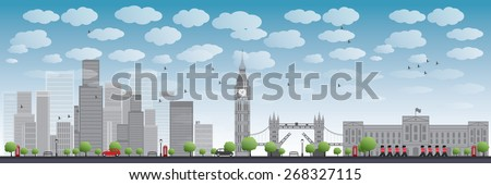 london skyline with skyscrapers