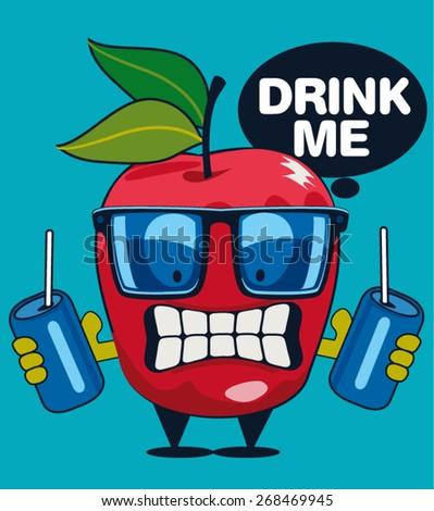 apple vector character design