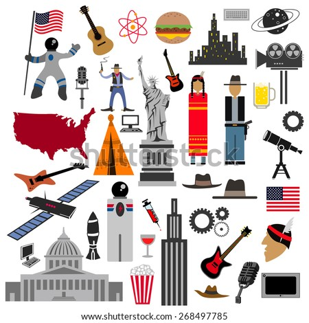 usa icon collection  american