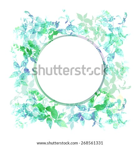 spring background  wreath with