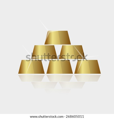 expensive shiny gold bricks